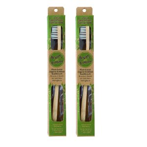BAMBOO TOOTHBRUSH – GREEN COUPLE PACK