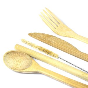 Bamboo Cutlery Set – Standard Pouch