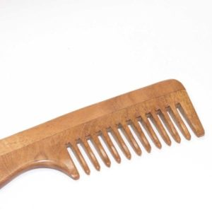 Neem Wood Comb – Wide Tooth