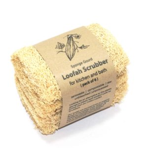 Loofah Scrubbers – for kitchen and bath (Pack of 6)